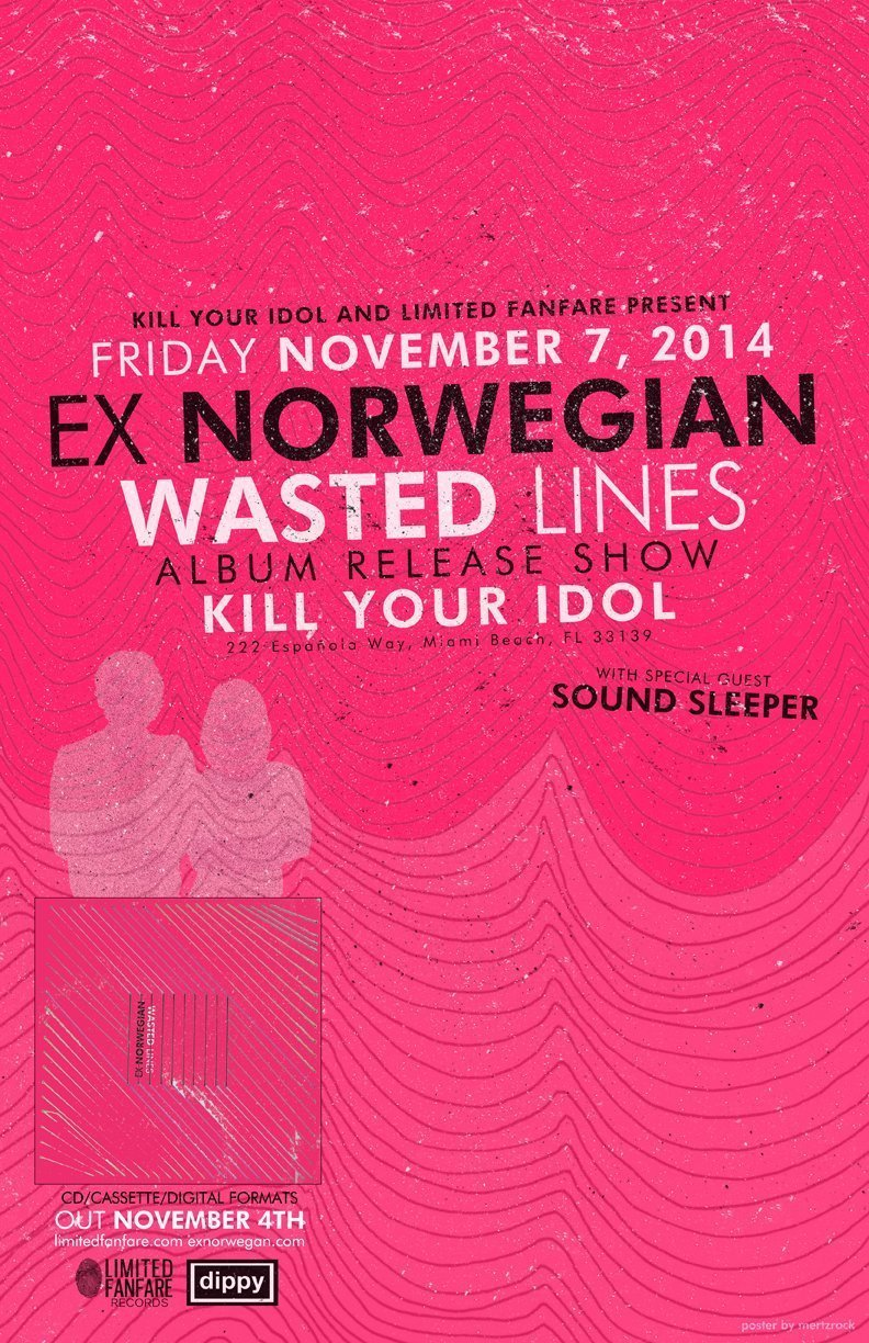 Wasted Lines album release show flier