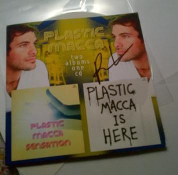 Plastic Macca signed CD